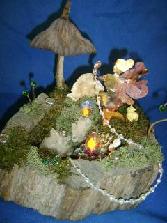 the faery's grotto....with a electric candle lamp