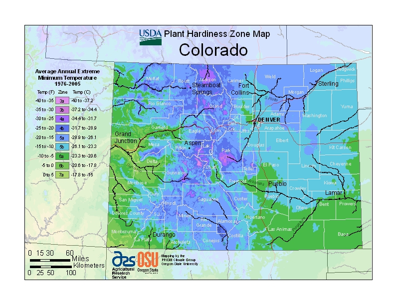 Colorado (CO) USDA Zone Map