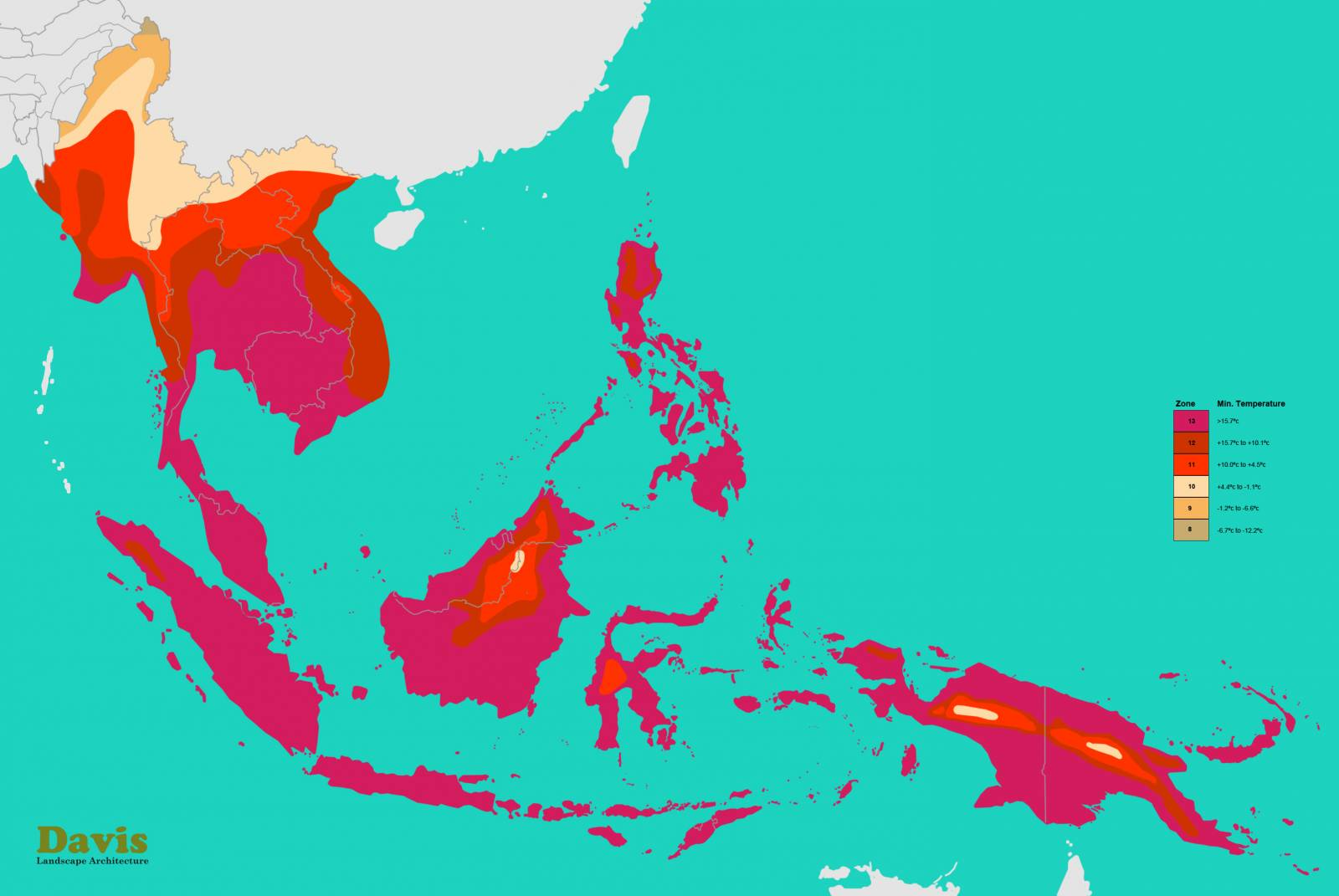 Vietnam (VN) Hardiness Zone Map