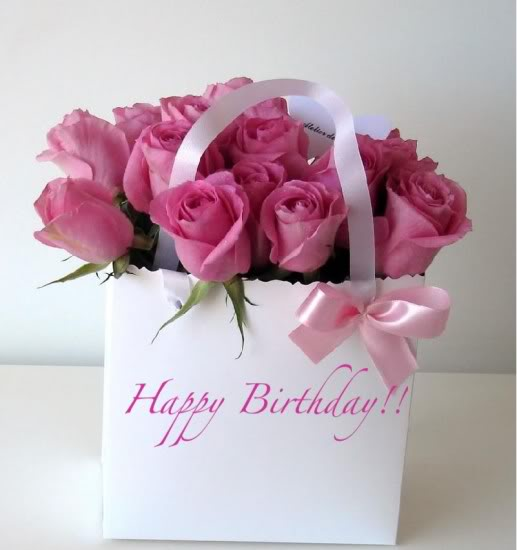 Happy Birthday (Pink Roses)